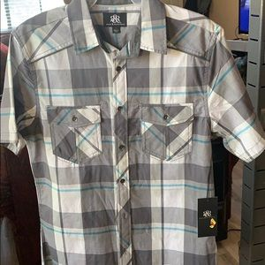 Men's new w tags Rock n Republic button down